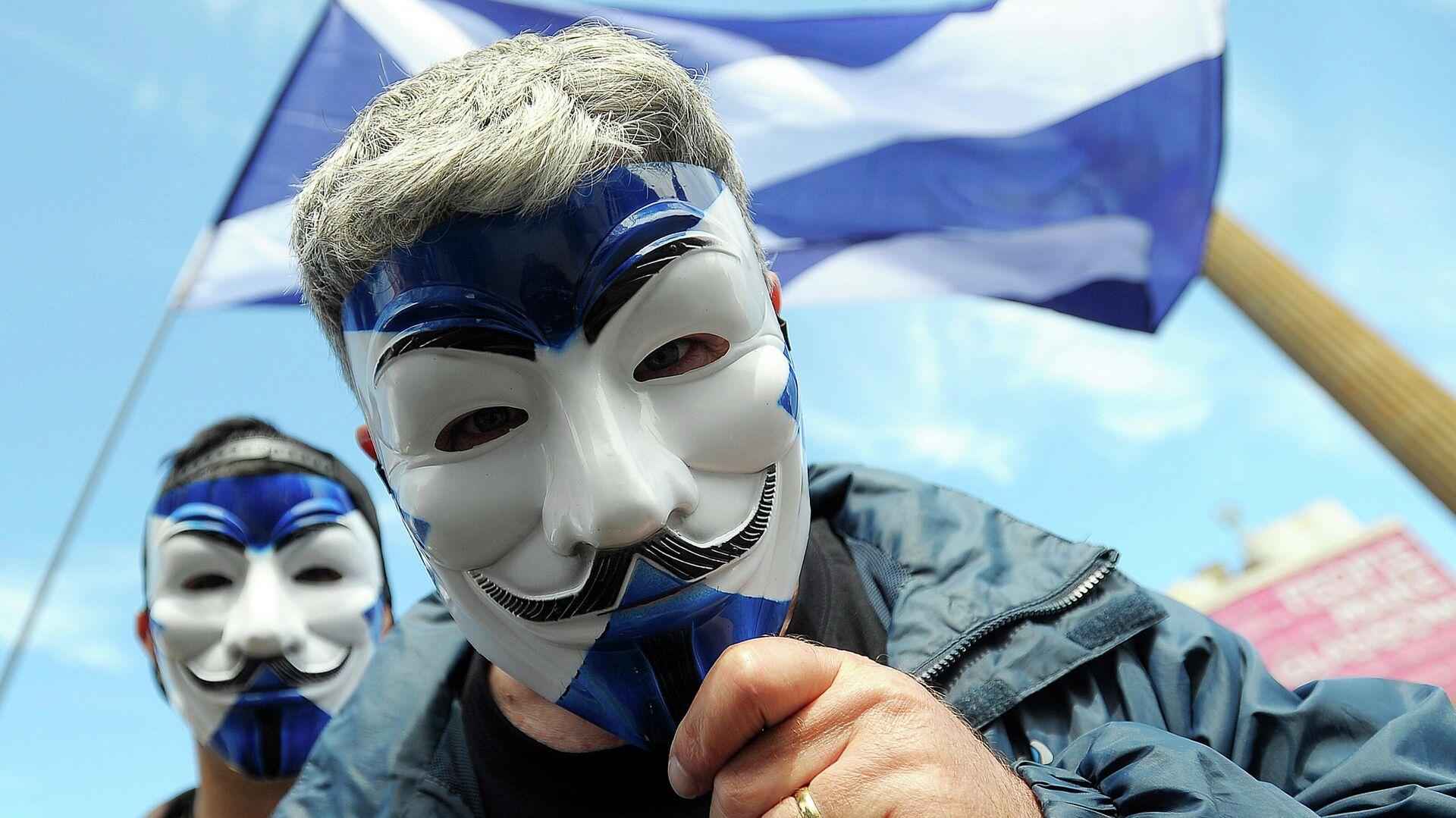 Сторонники независимости Шотландии во время демонстрации в Глазго - РИА Новости, 1920, 15.09.2020