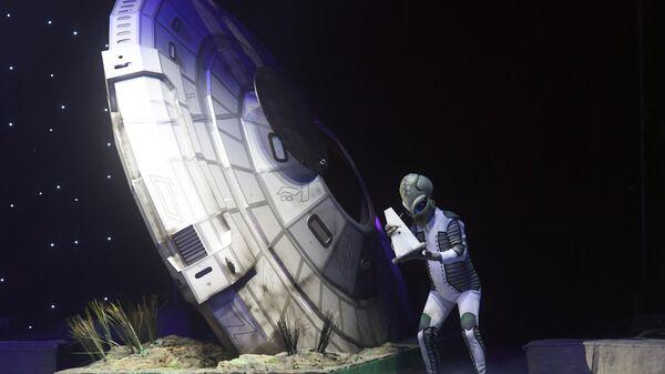 На цирковом спектакле OFU.Приземление во Дворце спорта Лужники в Москве