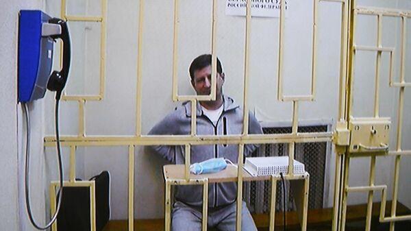 Бывший губернатор Хабаровского края Сергей Фургал участвует по видеосвязи в заседании Мосгорсуда