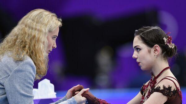 Российский тренер Этери Тутберидзе и фигуристка Евгения Медведева