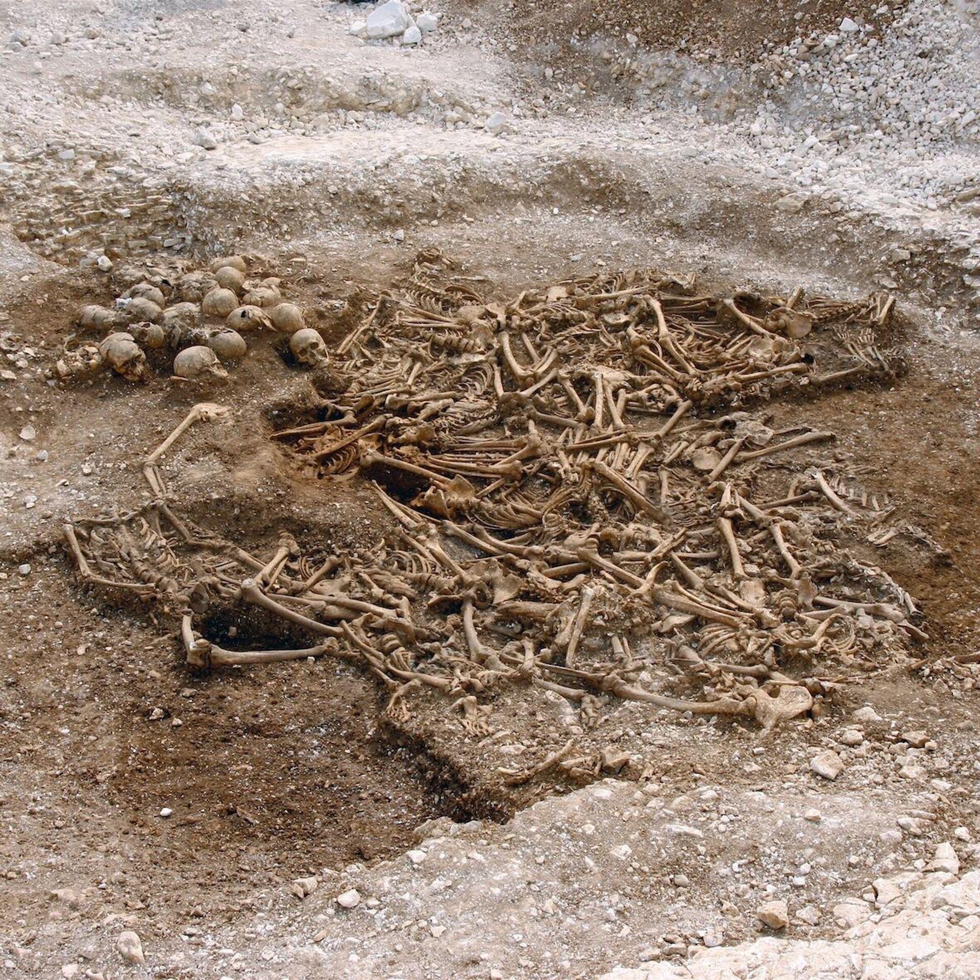 Братское захоронение пятидесяти обезглавленных викингов в в графстве Дорсет, Великобритания - РИА Новости, 1920, 20.02.2021