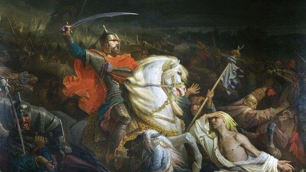 Картина Адольфа Ивона Куликовская битва. 1859 год