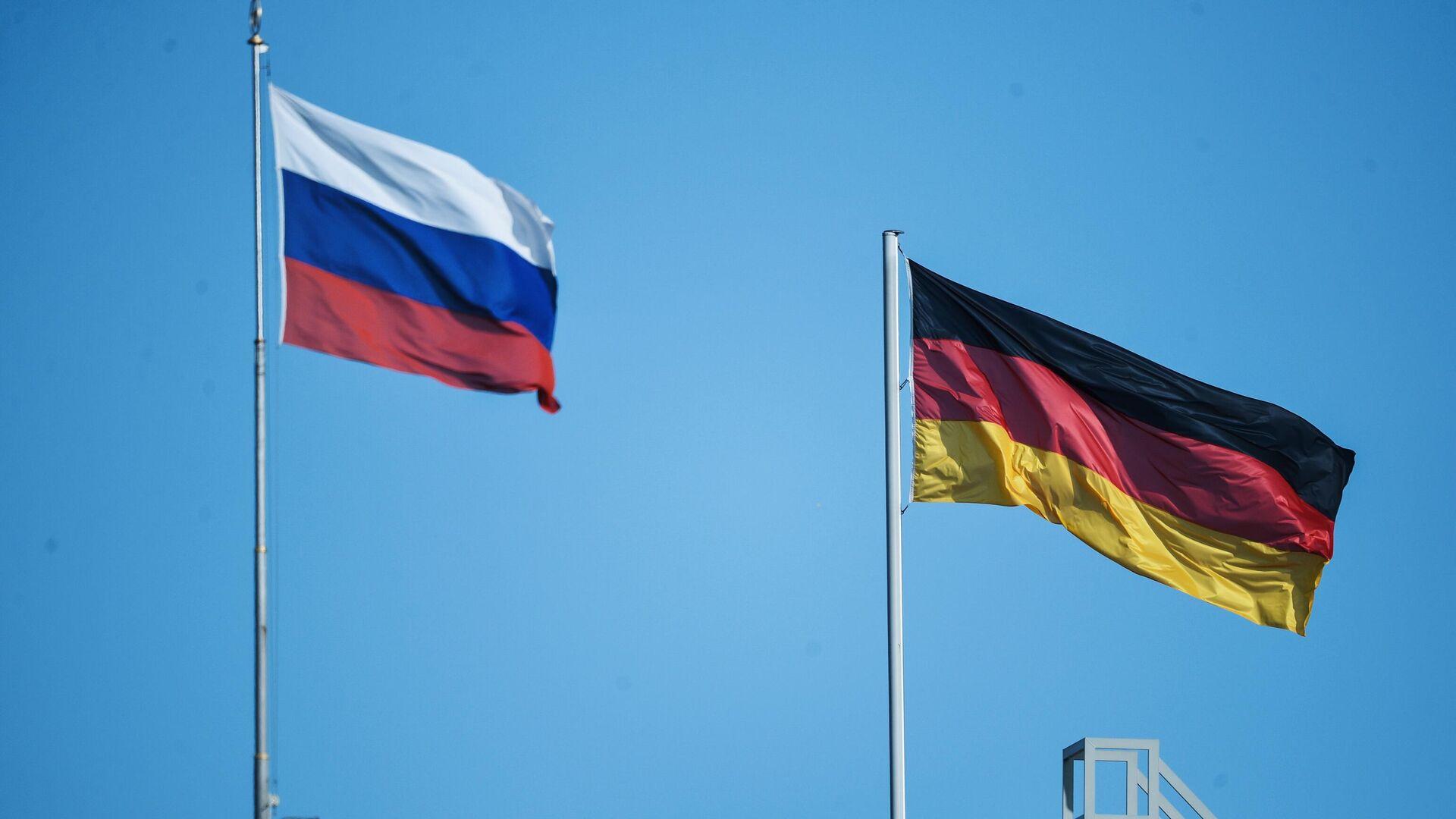 Флаг России и Германии в Берлине - РИА Новости, 1920, 18.06.2021