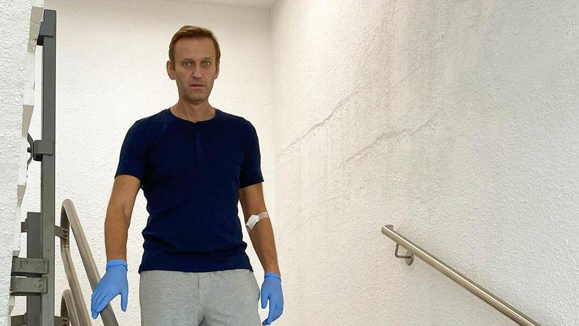 Алексей Навальный в клинике Шарите в Берлине - РИА Новости, 1920, 24.09.2020