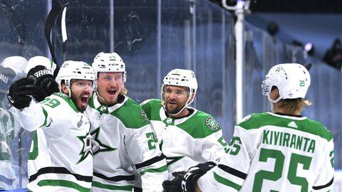 Хоккеисты Даллас Старз в матче финала Кубка Стэнли