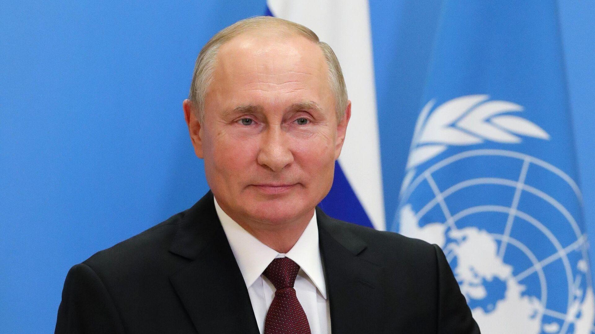 Выступление президента РФ В. Путина с видеообращением на 75-й сессии Генассамблеи ООН - РИА Новости, 1920, 22.09.2020