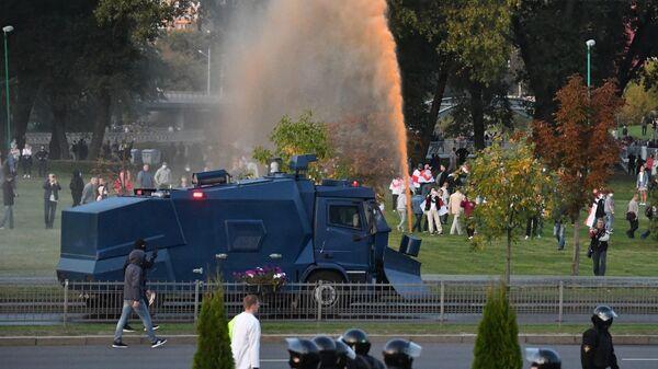 Разгон участников акций протеста в Минске