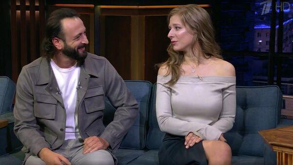 Илья Авербух и Елизавета Арзамасова в программе Вечерний Ургант