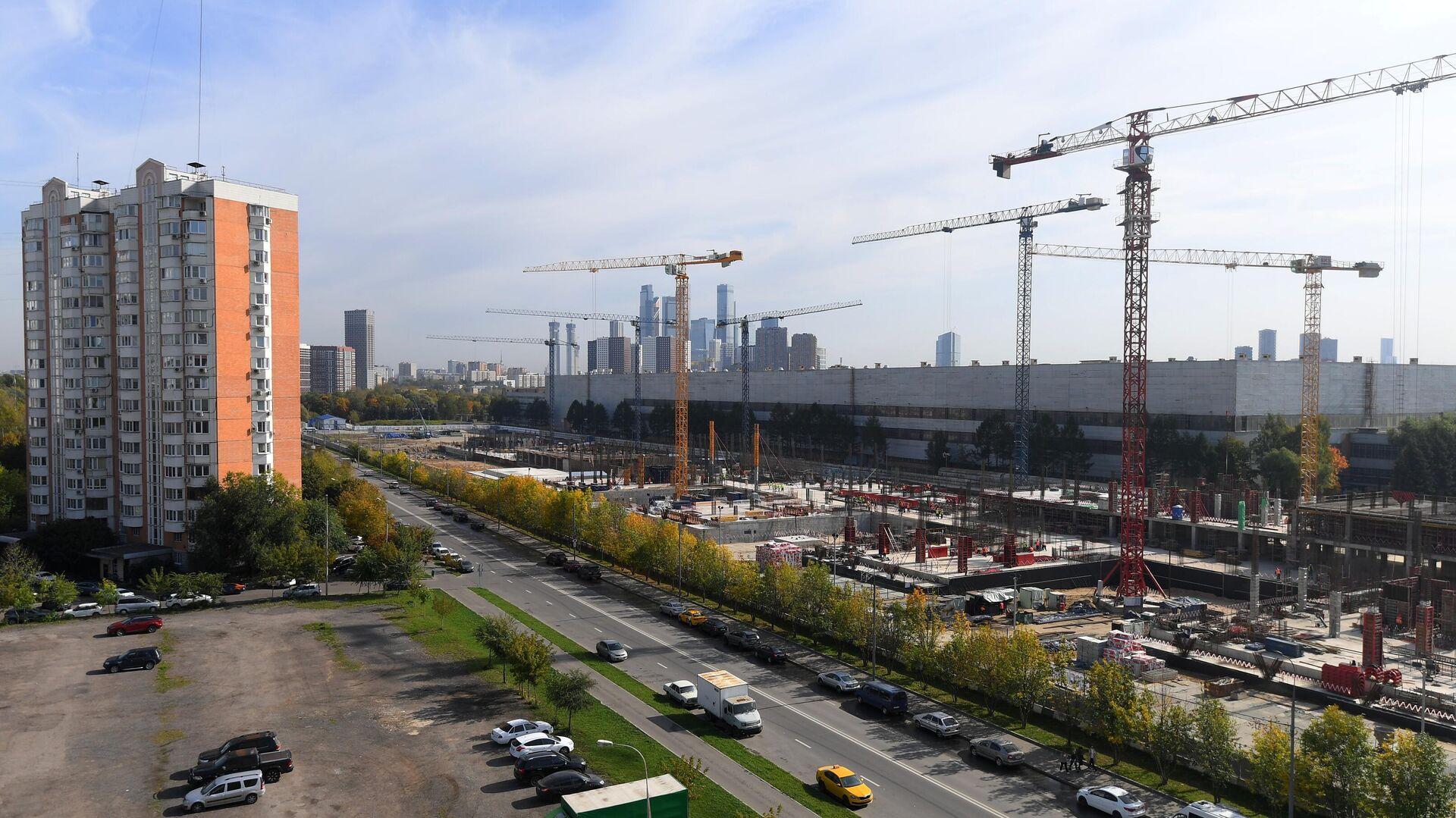 Строительство многофункционального  комплекса зданий Национального космического центра - РИА Новости, 1920, 24.09.2020