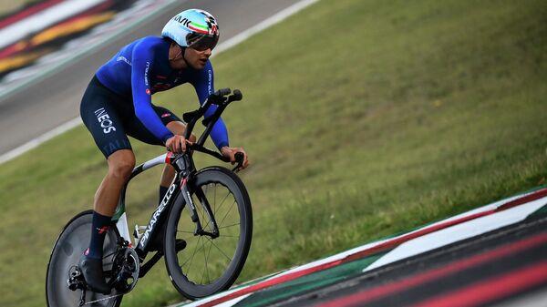Итальянский велогонщик Филиппо Ганна