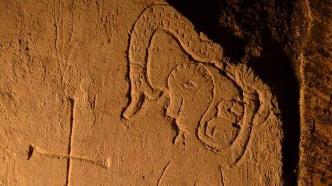Найденное учеными граффити XII века на стене Спасо-Преображенского собора в Переславле-Залесском