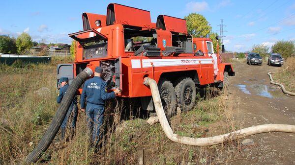 Ликвидация подтоплений в Хабаровском крае