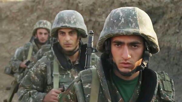 Военнослужащие армии Армении на позициях в Нагорном Карабахе