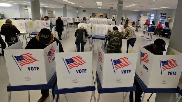 Избирательный участок в Кливленде, США