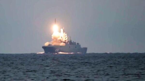 Первый запуск гиперзвуковой ракеты Циркон с фрегата Адмирал Горшков в Белом море по морской цели в Баренцевом море