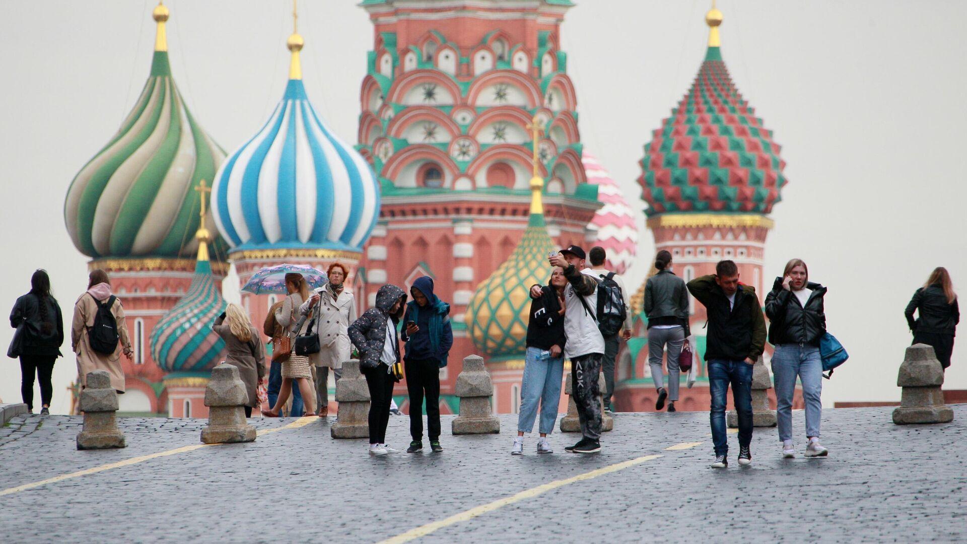 Люди на Красной площади в Москве - РИА Новости, 1920, 17.10.2020
