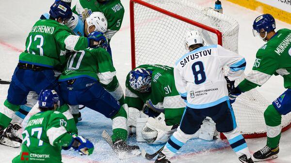 Салават Юлаев - Сибирь в матче регулярного чемпионата КХЛ