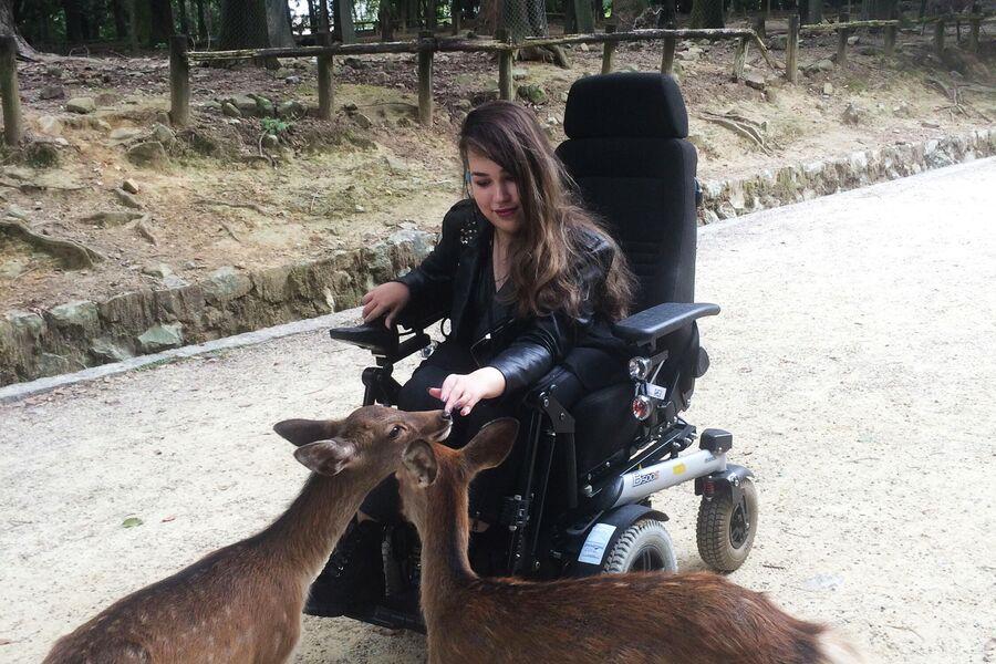 Маша во время поездки в страну своей мечты, Японию, в 2019 году