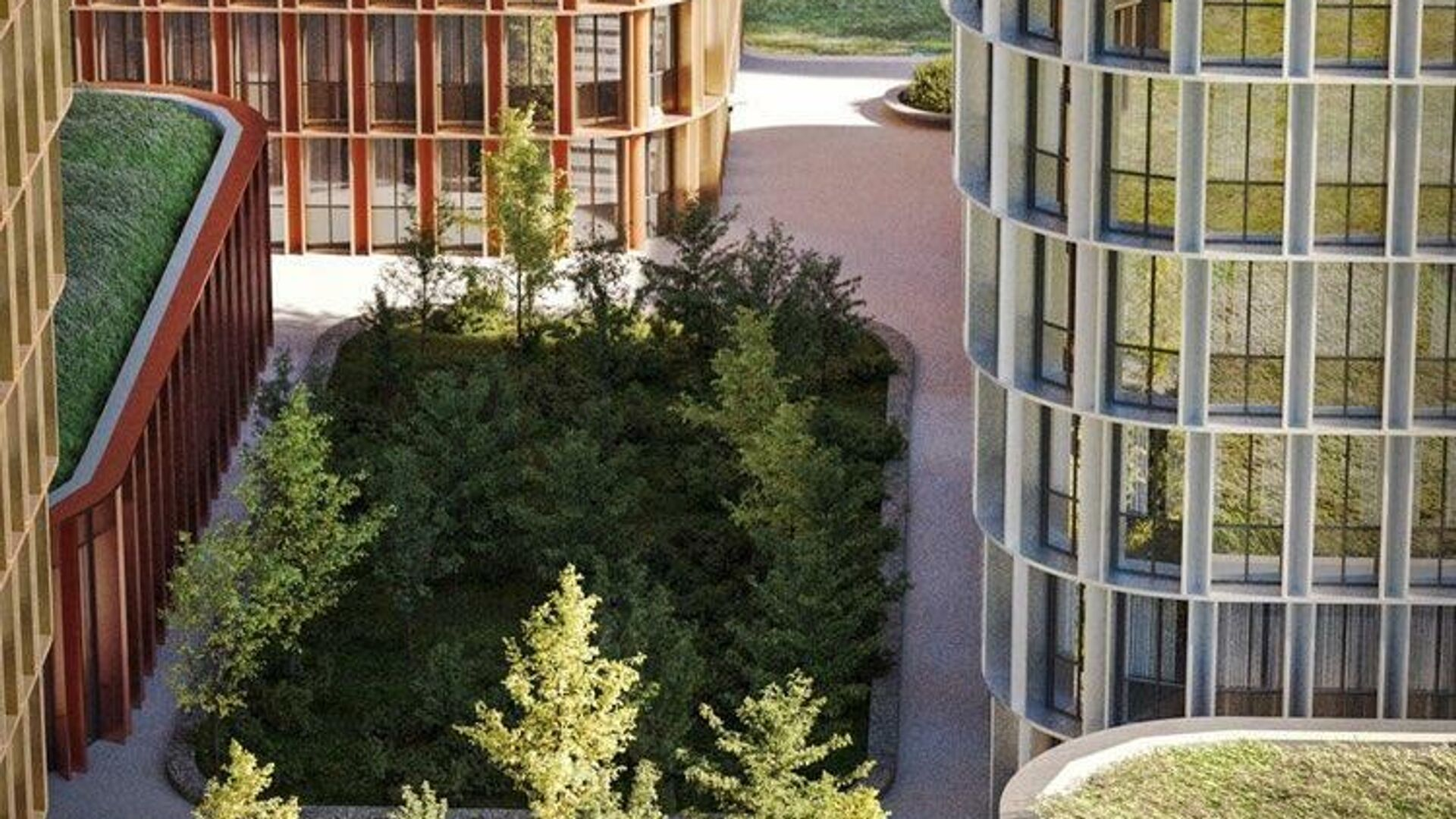 Проект апартаментов на месте киноцентра Соловей на Пресне - РИА Новости, 1920, 22.01.2021