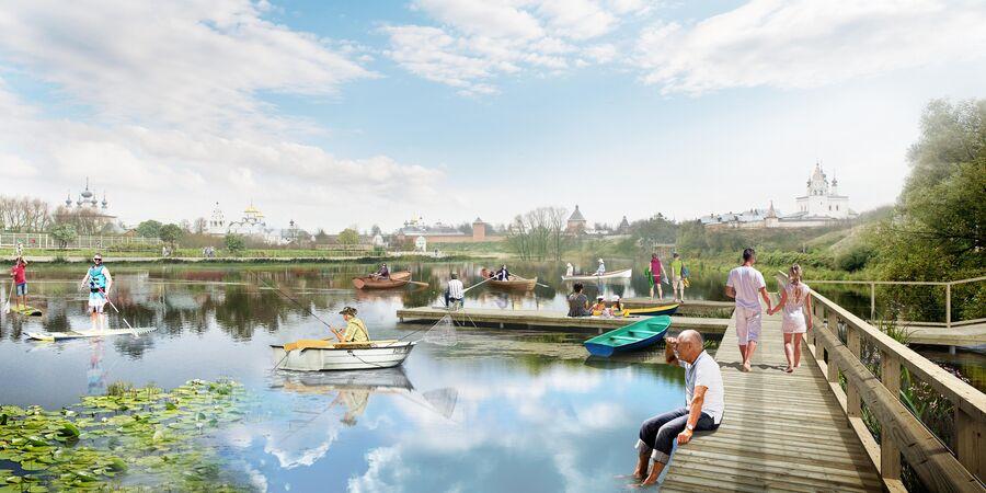 Один из возможных вариантов благоустройства набережной реки Каменка