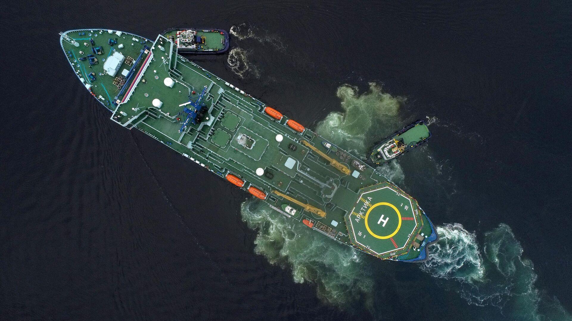 Прибытие атомного ледокола Арктика в порт Мурманска - РИА Новости, 1920, 27.10.2020