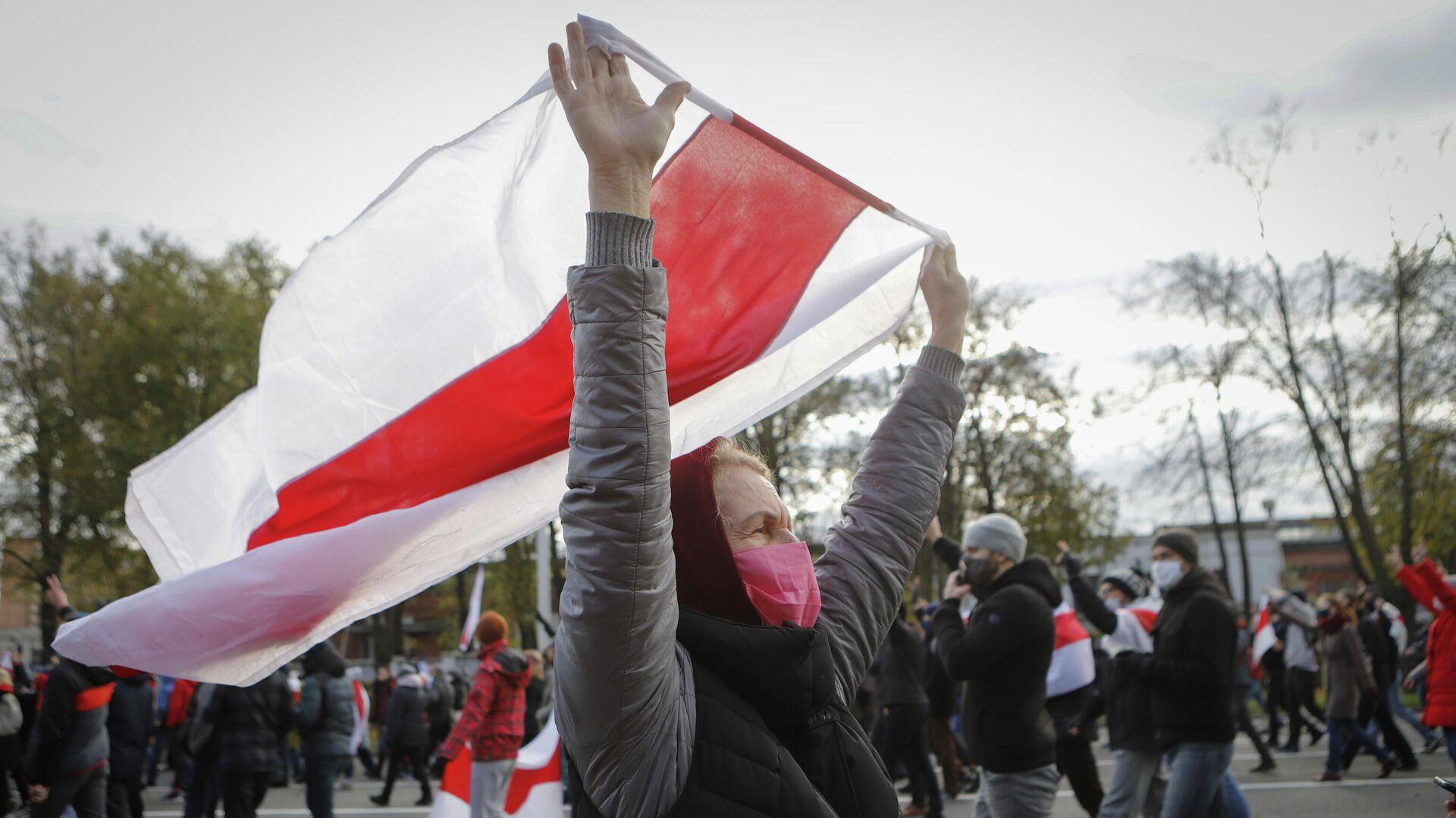 Участники акции протеста в Минске - РИА Новости, 1920, 18.10.2020