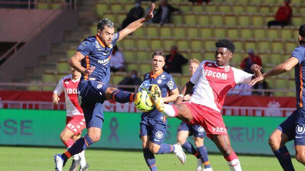 Игровой момент матча Монако - Монпелье