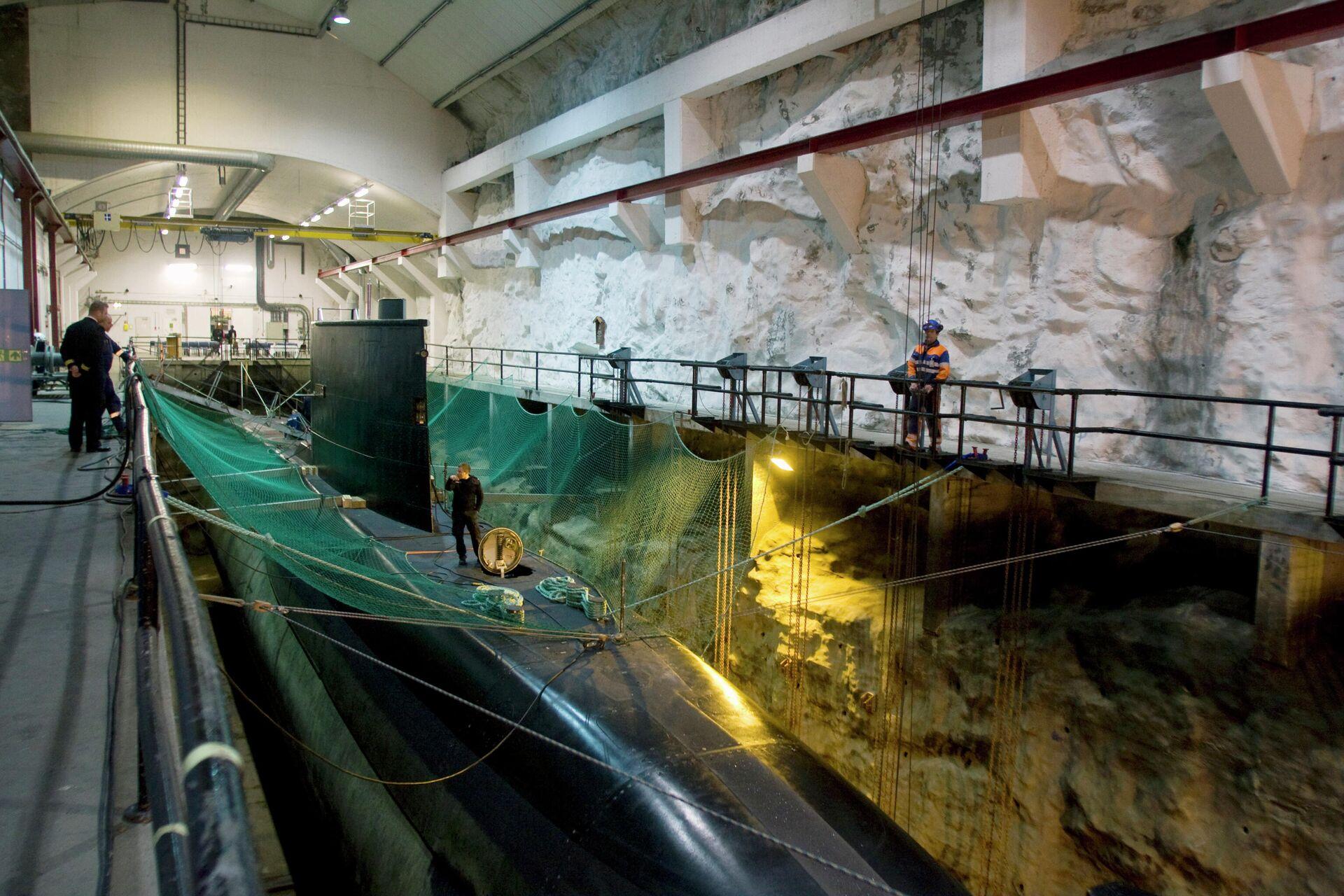 База подводных лодок Олавсверн в Тромсе - РИА Новости, 1920, 20.10.2020