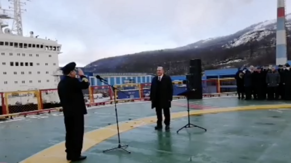 Мишустин принимает ледокол Арктика