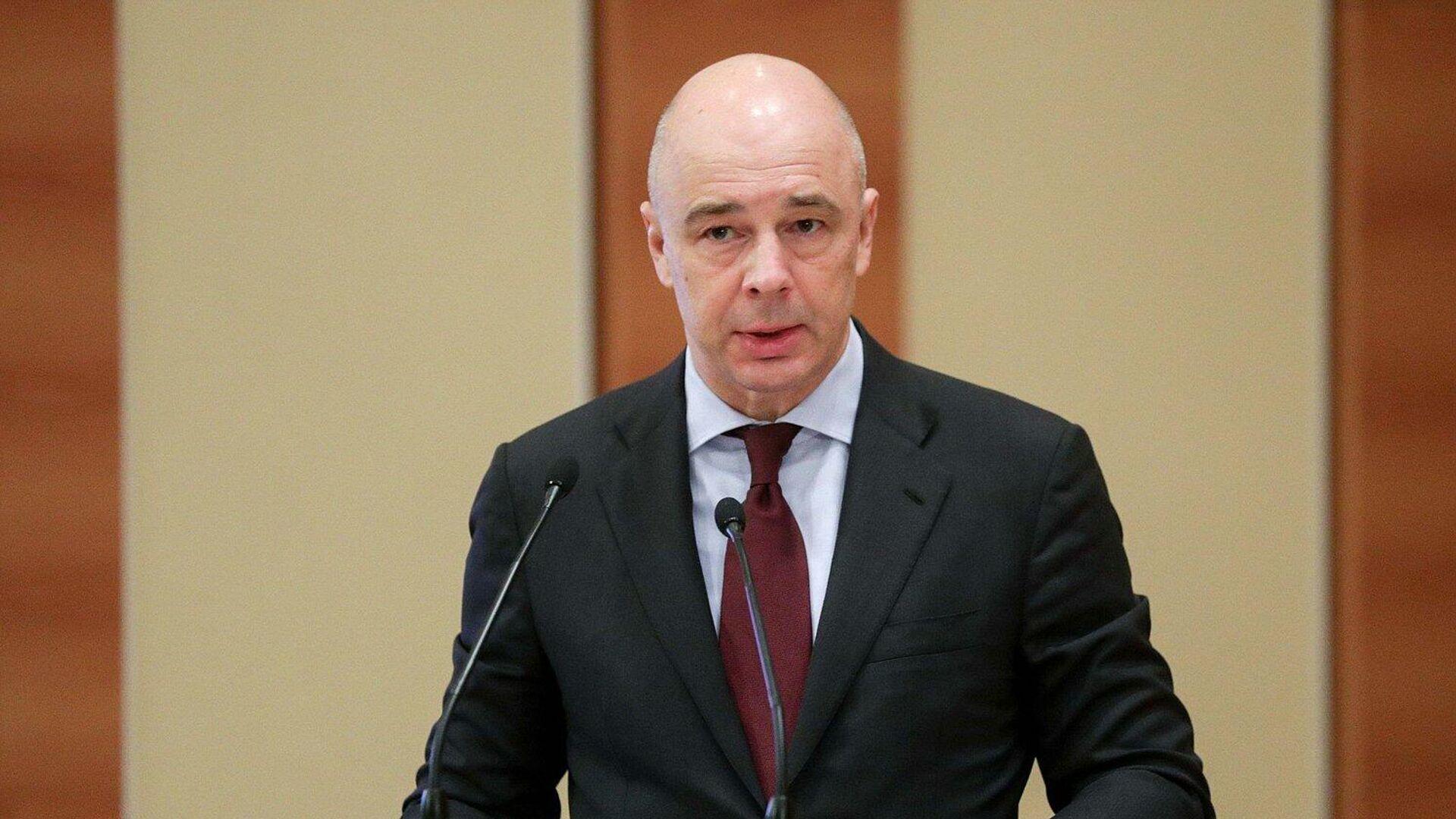 Министр финансов РФ Антон Силуанов выступает на заседании по обсуждению проекта федерального бюджета на 2021 год в Госдуме - РИА Новости, 1920, 14.02.2021