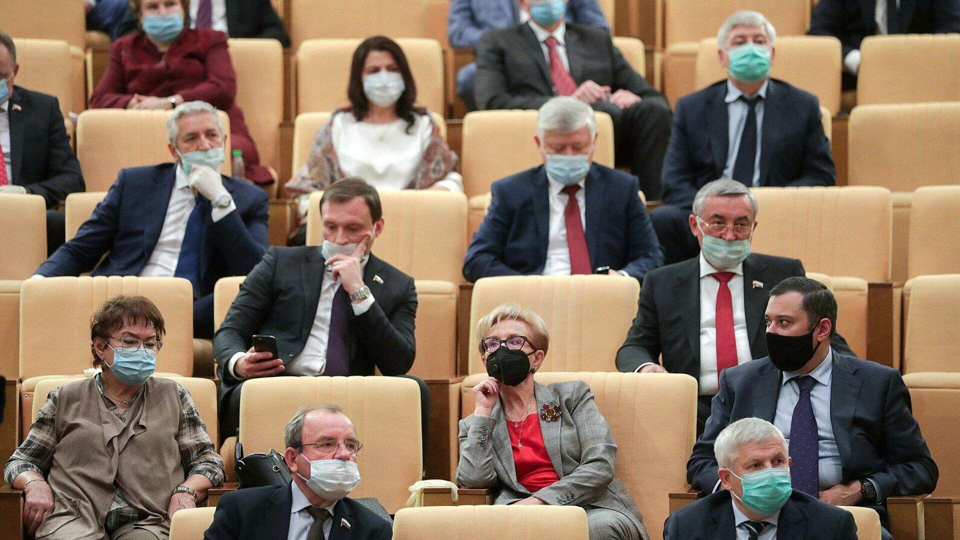 На заседании по обсуждению проекта федерального бюджета на 2021 год в Госдуме - РИА Новости, 1920, 26.10.2020