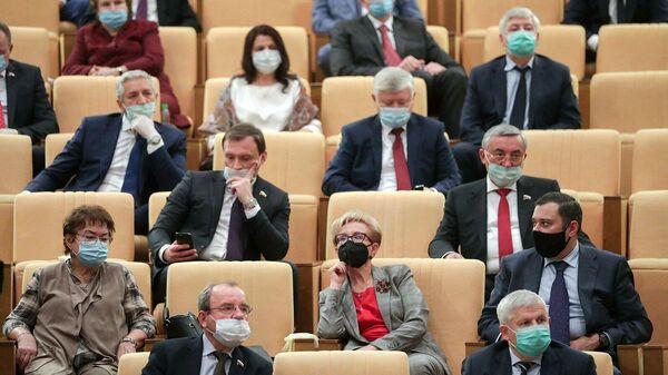 На заседании по обсуждению проекта федерального бюджета на 2021 год в Госдуме