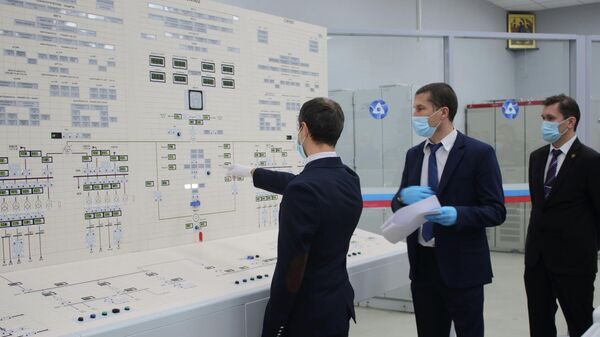 Пульт управления новым энергоблоком Ленинградской АЭС-2