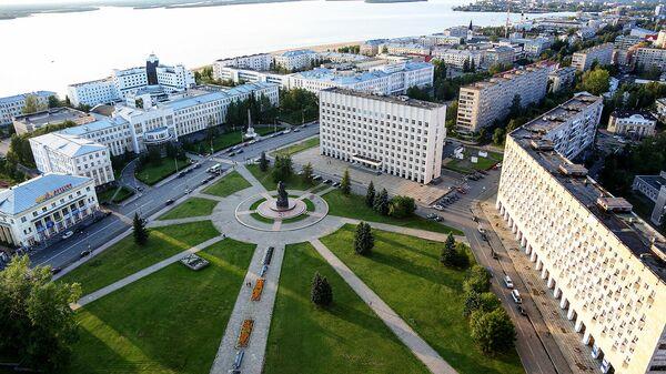 Вид на площадь Ленина в Архангельске
