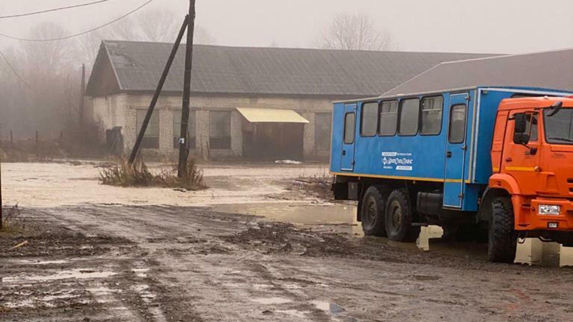 Последствия подъема уровня рек на Сахалине - РИА Новости, 1920, 24.10.2020