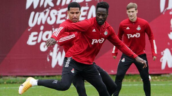Тренировка ФК Локомотив перед матчем Лиги чемпионов с ФК Бавария