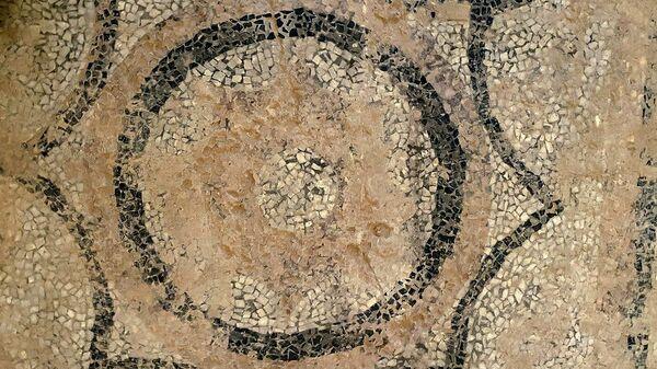 Мозаичный пол в главном доме бывшей городской усадьбы Филиппа Пантелеева XIX века
