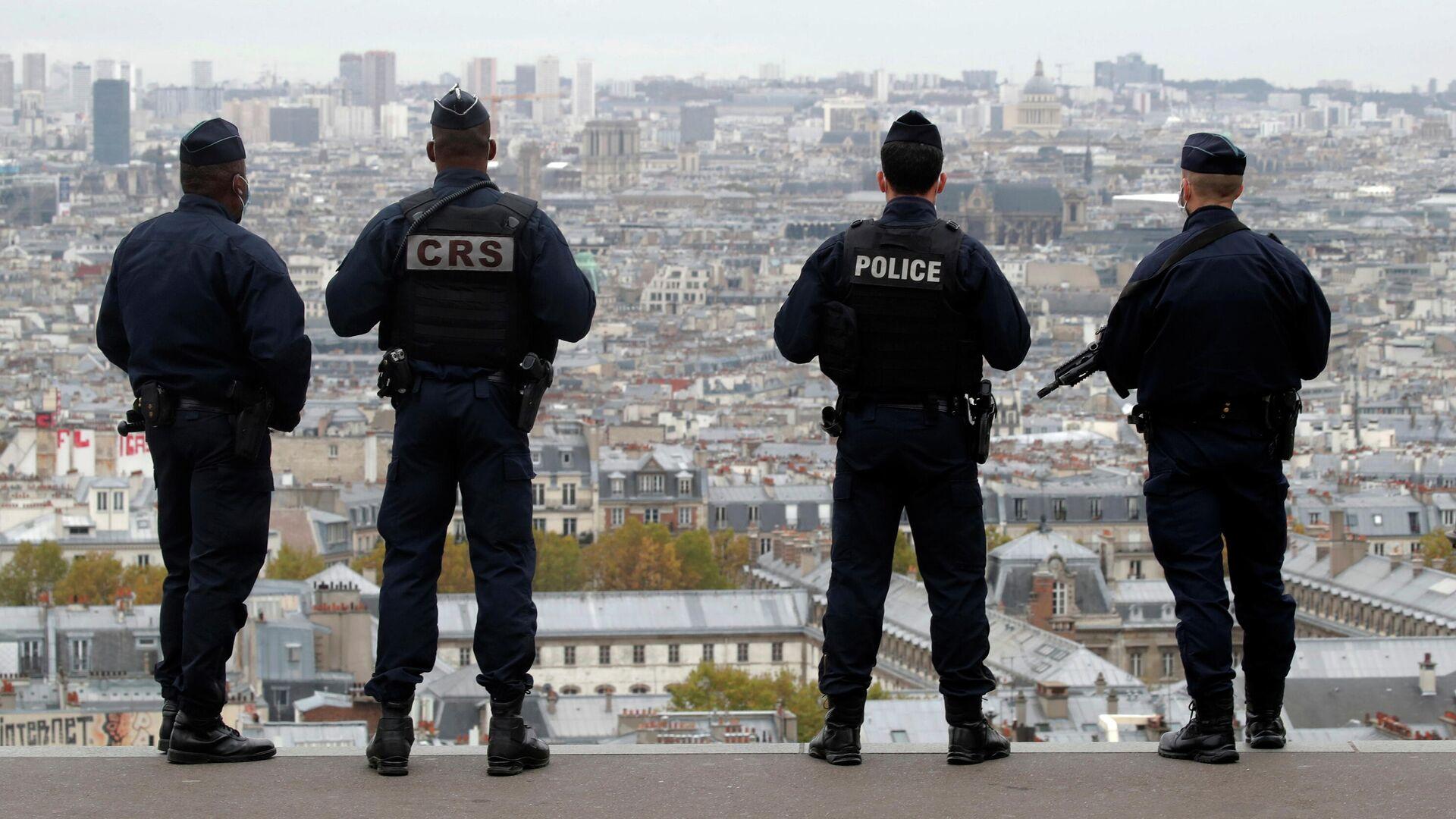 Сотрудники полиции и спецслужб Франции в Париже - РИА Новости, 1920, 04.11.2020