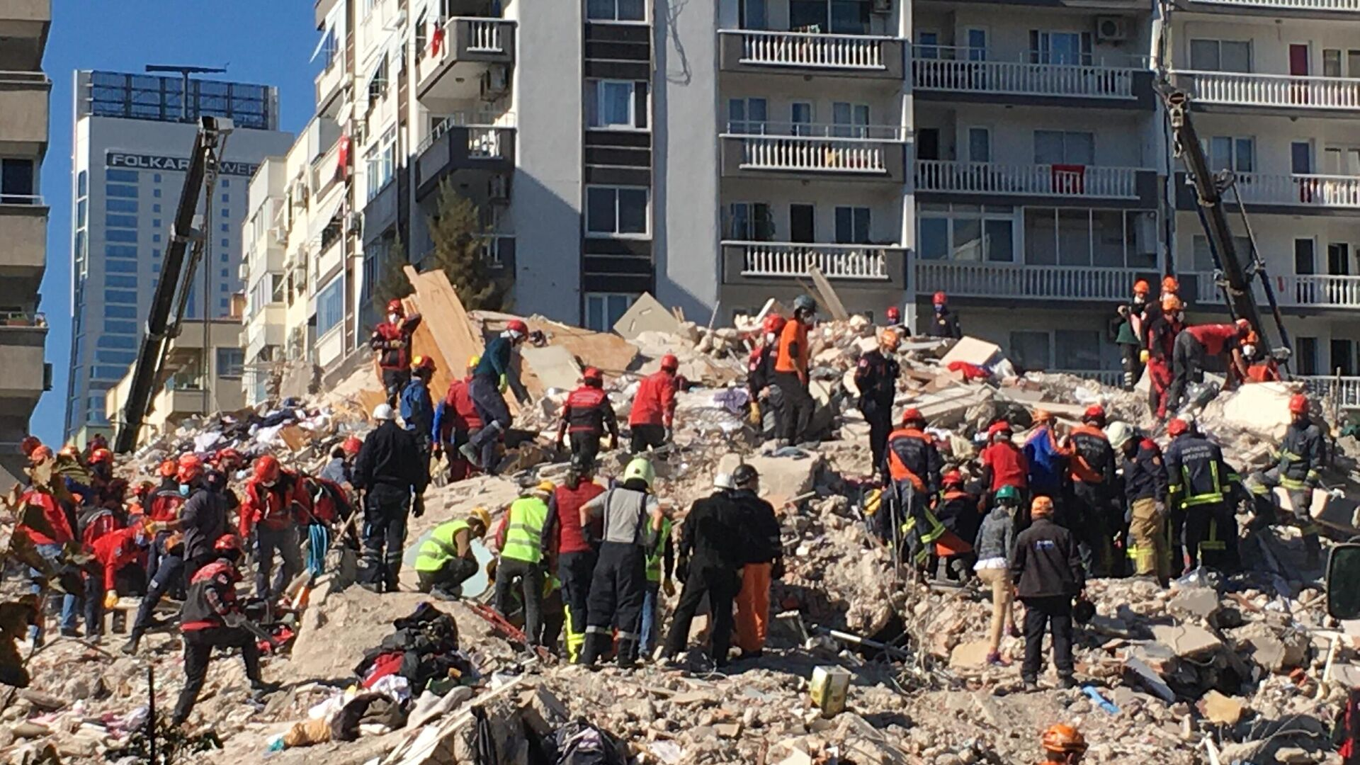 Ликвидация последствий землетрясения в Измире, Турция - РИА Новости, 1920, 05.11.2020