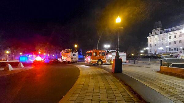 На месте нападения мужчины с ножом в Квебеке