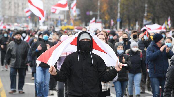 Участники несанкционированной акции Дзяды (Деды, Предки) в Минске