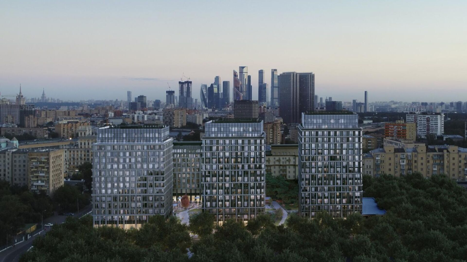 Проект комплекса на месте завода Слава в Москве - РИА Новости, 1920, 04.11.2020
