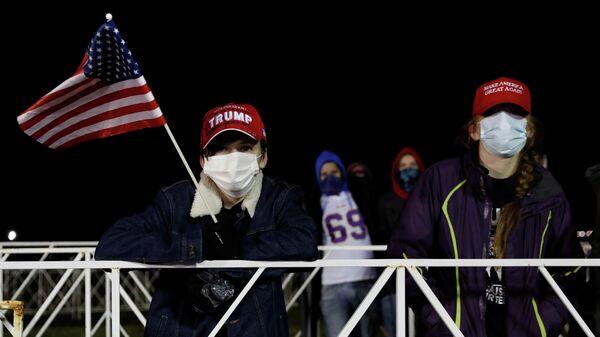 Сторонники Дональда Трампа в штате Мичиган, США