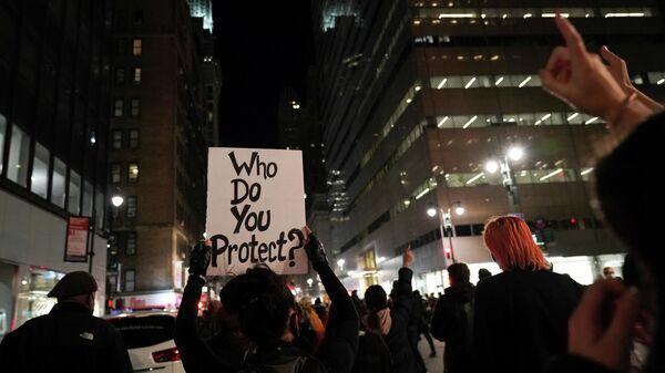 Акция протеста на Манхэттене, Нью-Йорк