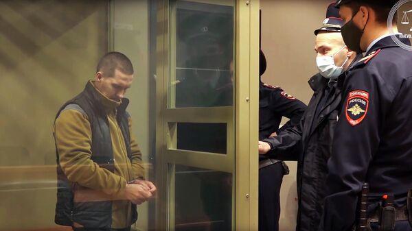 Обвиняемый в убийстве падчерицы во время оглашения приговора в Краснодарском краевом суде