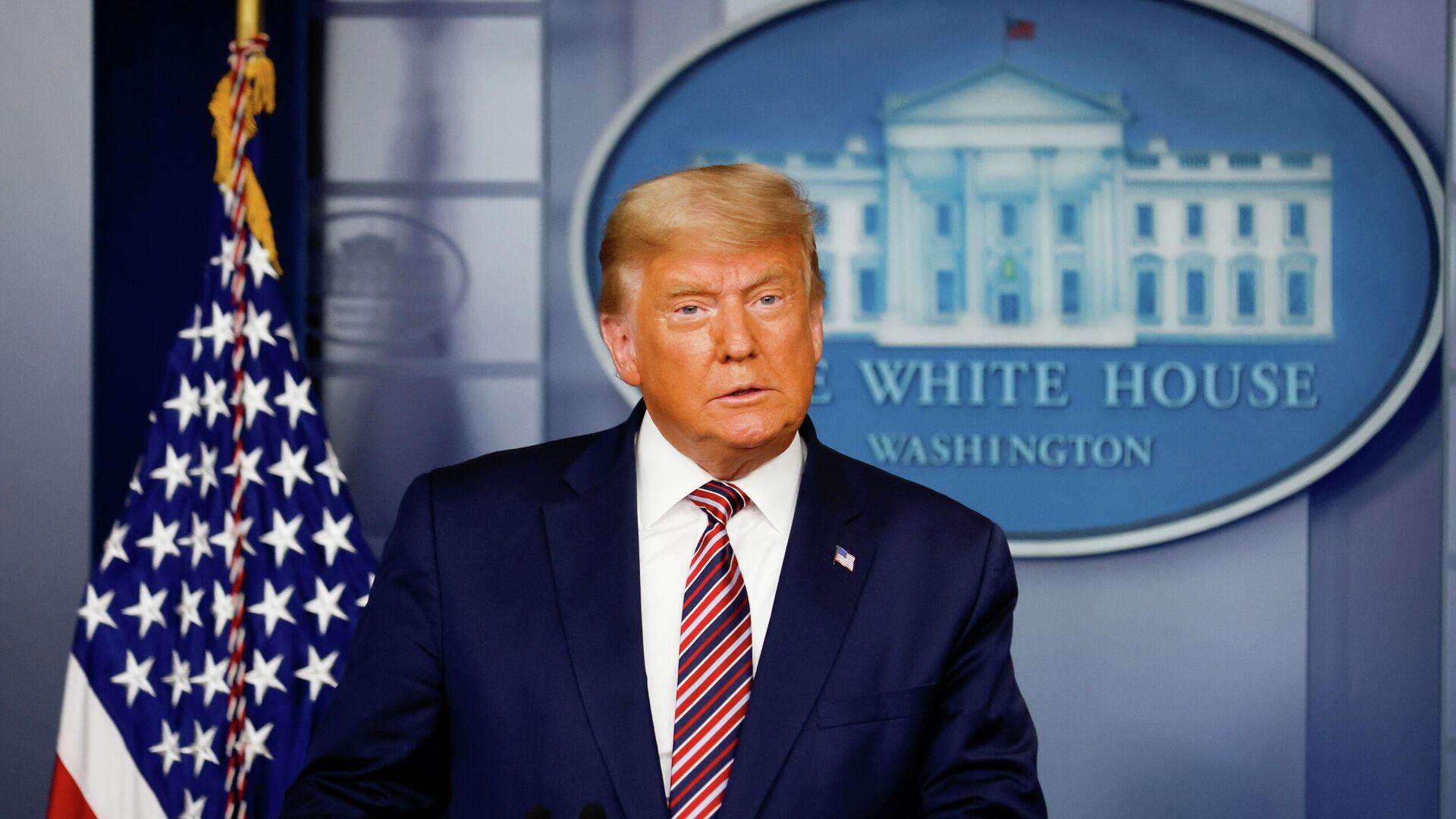 Президент США Дональд Трамп во время выступления в Белом доме в Вашингтоне - РИА Новости, 1920, 12.11.2020