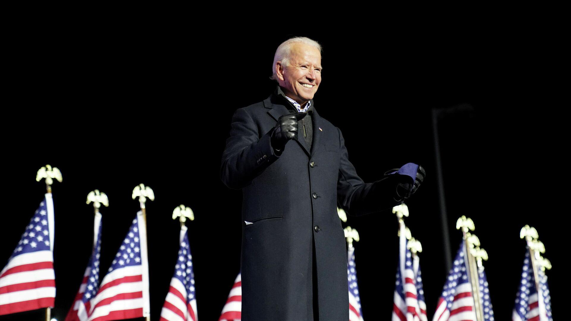 Кандидат в президенты США Джо Байден во время выступления в Питтсбурге, Пенсильвания - РИА Новости, 1920, 08.11.2020