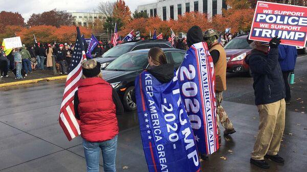 Участники поствыборных протестов в штате Орегон