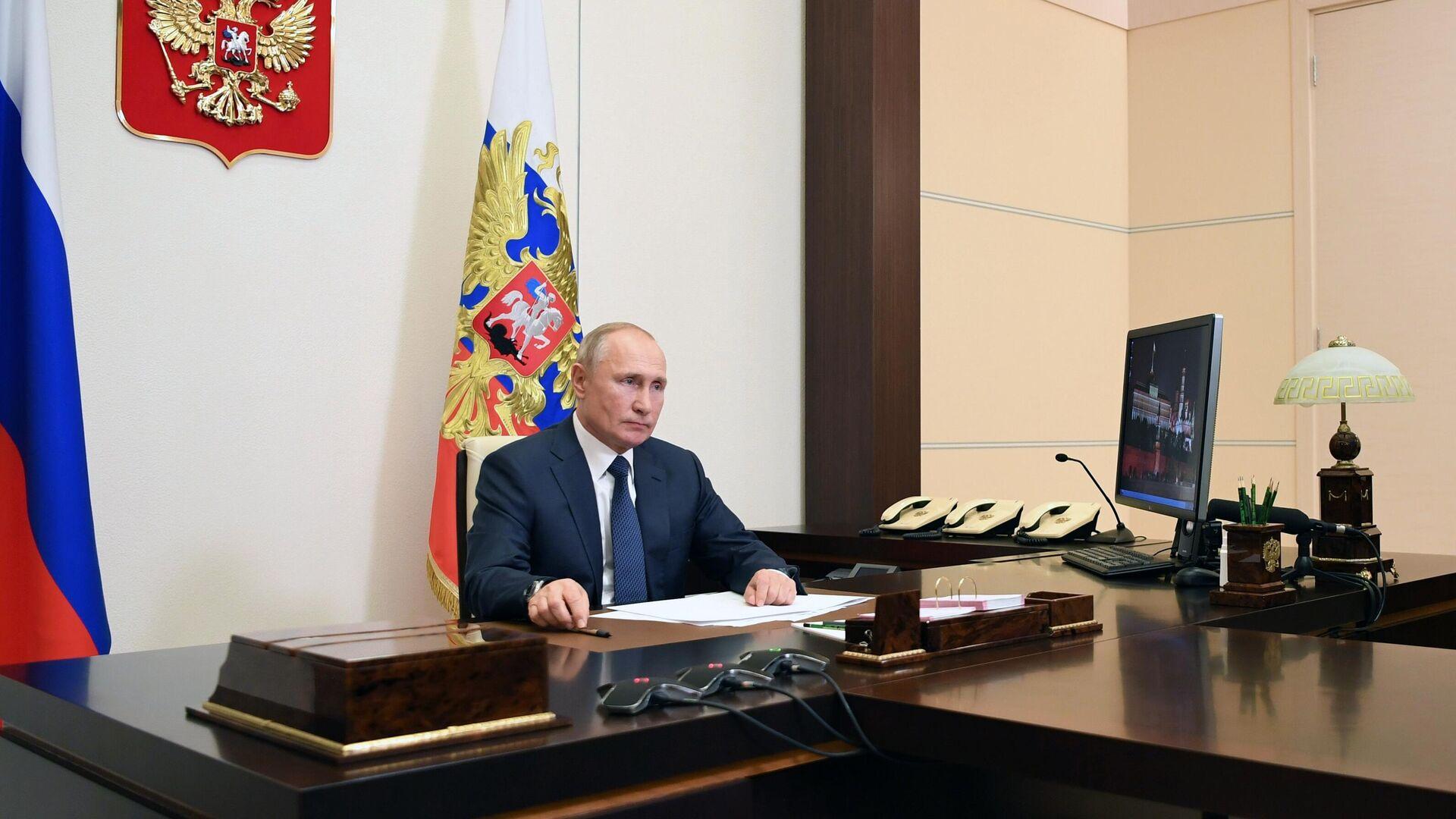 Заявление президента РФ В. Путина по поводу ситуции в Нагорном Карабахе - РИА Новости, 1920, 12.11.2020