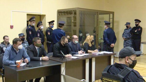 Заседание во Втором западном окружном военном суде в Воронеже, где выносится приговор в отношении обвиняемых в создании террористического сообщества